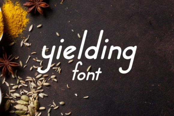 Print on Demand: Yielding Display Font By carina2