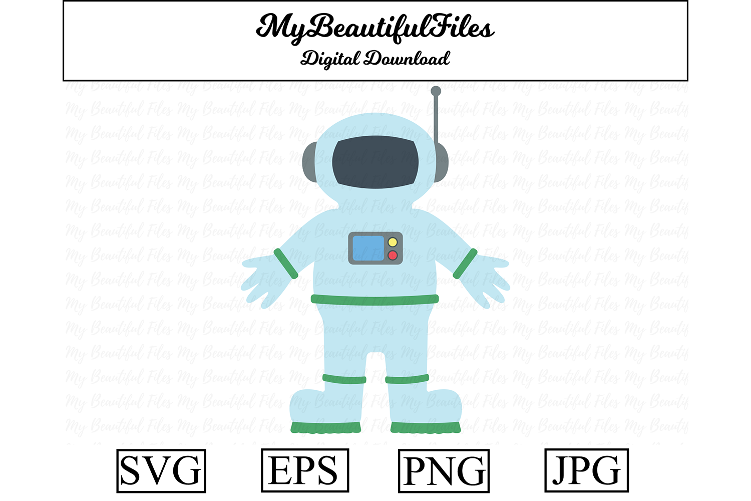 Download Free Astronaut Clipart Illustration Graphic By Mybeautifulfiles Creative Fabrica SVG Cut Files