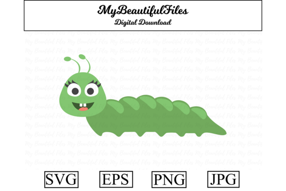 Download Free Caterpillar Clipart Illustration Graphic By Mybeautifulfiles for Cricut Explore, Silhouette and other cutting machines.