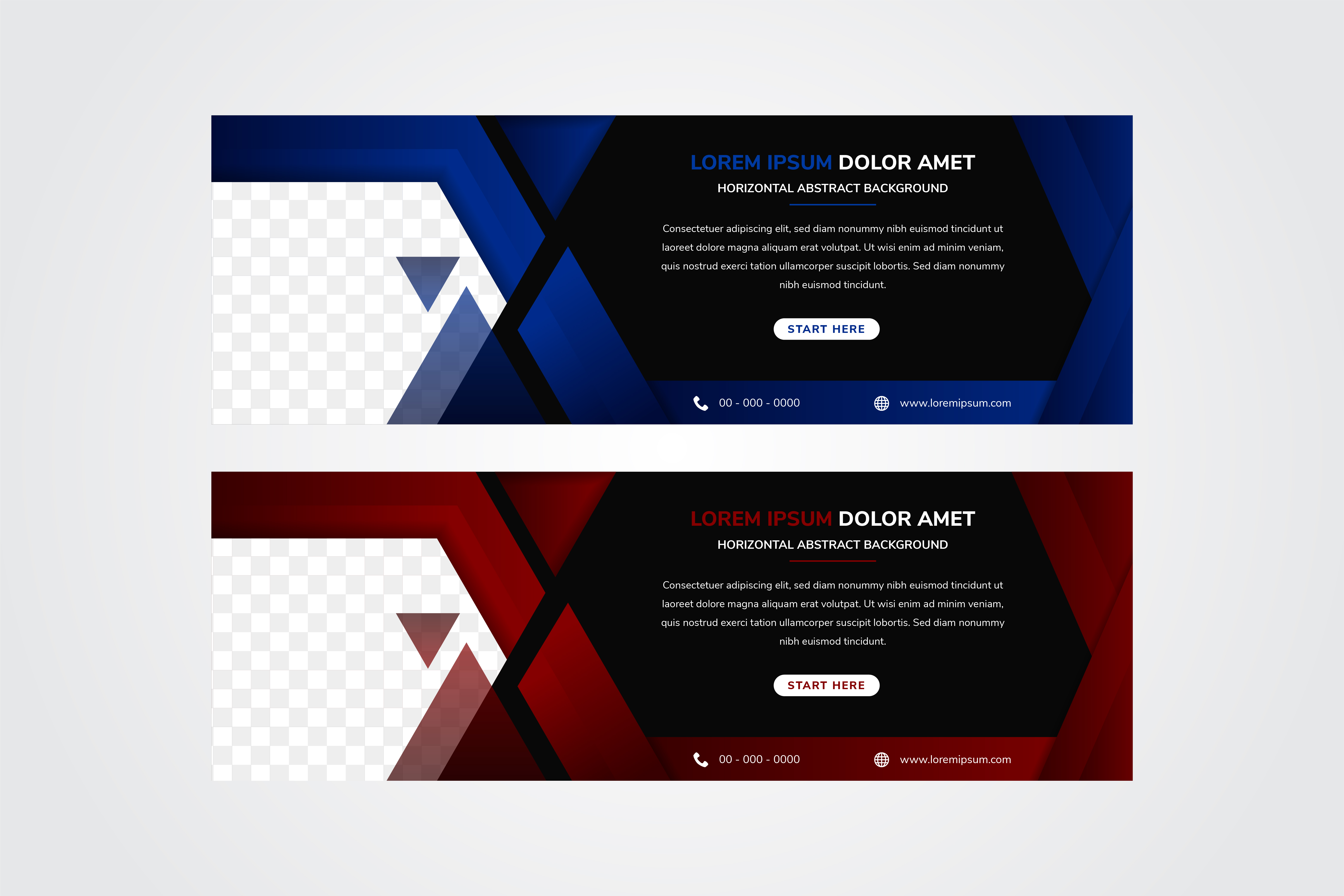 Download Free Hexagon Horizontal Banner Blue Red Graphic By Noory Shopper SVG Cut Files