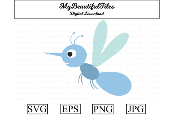 Print on Demand: Mosquito Clipart Illustration Graphic Illustrations By MyBeautifulFiles