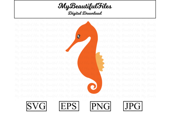 Print on Demand: Seahorse Fish Clipart Illustration Graphic Illustrations By MyBeautifulFiles