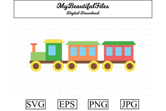 Download Free Toy Train Clipart Illustration Graphic By Mybeautifulfiles for Cricut Explore, Silhouette and other cutting machines.