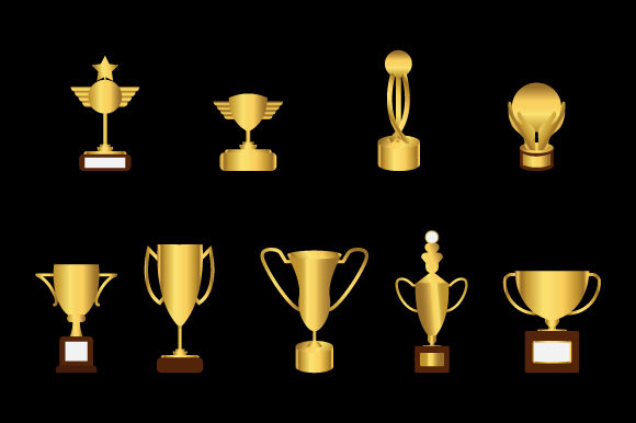 Print on Demand: Trophy Collection Graphic Illustrations By curutdesign