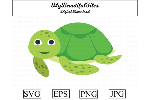 Print on Demand: Turtle Clipart Illustration Graphic Illustrations By MyBeautifulFiles