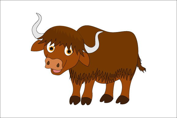 Print on Demand: Yak Graphic Illustrations By curutdesign