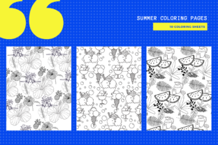 Print on Demand: 10 Summer Themed Coloring Pages Graphic Coloring Pages & Books By MarinovaDesigns