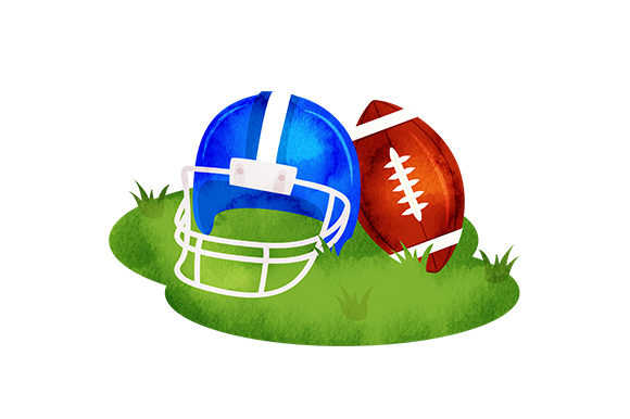 Download Free Football Helmet And Ball In Grass Svg Cut File By Creative for Cricut Explore, Silhouette and other cutting machines.
