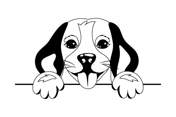 Cute Beagle Hunde Plotterdatei von Creative Fabrica Crafts - Bild 2