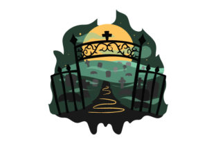 Spooky Cemetary Halloween Craft Cut File By Creative Fabrica Crafts