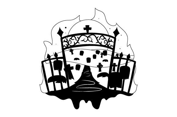 Download Free Spooky Cemetary Svg Cut File By Creative Fabrica Crafts for Cricut Explore, Silhouette and other cutting machines.