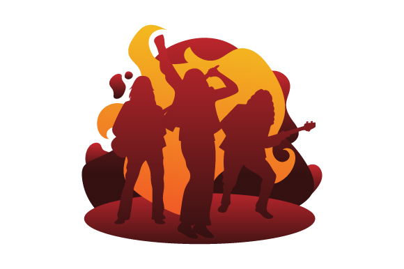 Download Free Rock Band Performing Svg Cut File By Creative Fabrica Crafts for Cricut Explore, Silhouette and other cutting machines.