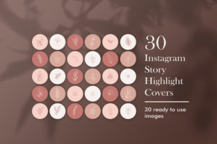 30 Instagram Story Highlight Covers Graphic Web Elements By CreativePanda