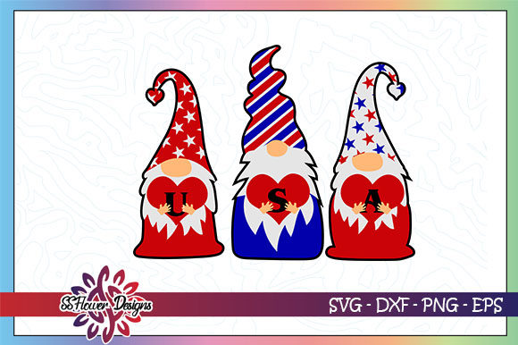 Download Free 4th Of July Gnomes Usa Graphic By Ssflower Creative Fabrica for Cricut Explore, Silhouette and other cutting machines.