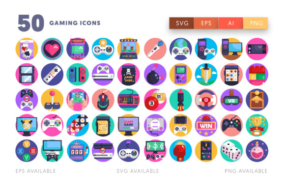 50 Gaming Icons Graphic Icons By Dighital Design