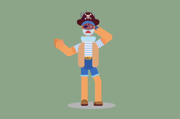 Print on Demand: A Character a Confused Pirate Graphic Illustrations By altumfatih
