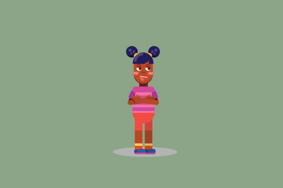 Print on Demand: A Character of a Little Girl Graphic Illustrations By altumfatih