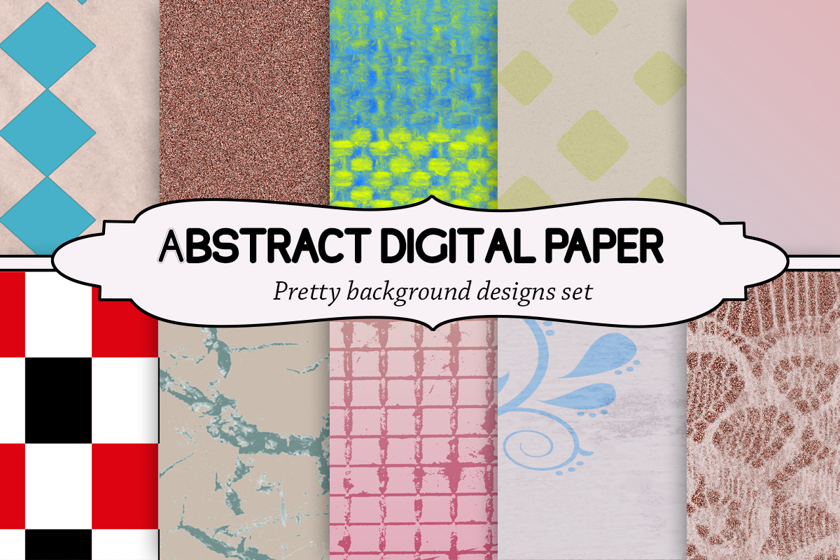 Download Free Abstract Digital Paper Pack Graphic By A Design In Time for Cricut Explore, Silhouette and other cutting machines.