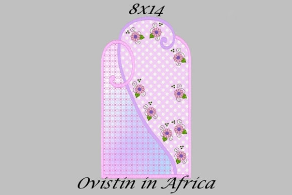 Adorable Pink Floral Applique Placemat Sewing & Crafts Embroidery Design By Ovistin in Africa - Image 1