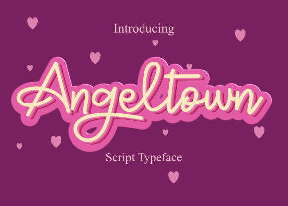 Print on Demand: Angeltown Script & Handwritten Font By hellofloralstudio