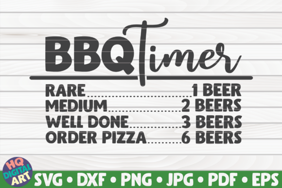 Download Free Bbq Timer Barbecue Design Graphic By Mihaibadea95 Creative for Cricut Explore, Silhouette and other cutting machines.