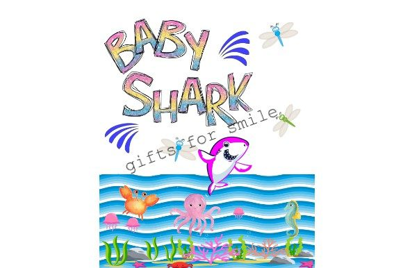 Download Free Baby Shark Fishing Sublimation Graphic By Aarcee0027 Creative for Cricut Explore, Silhouette and other cutting machines.