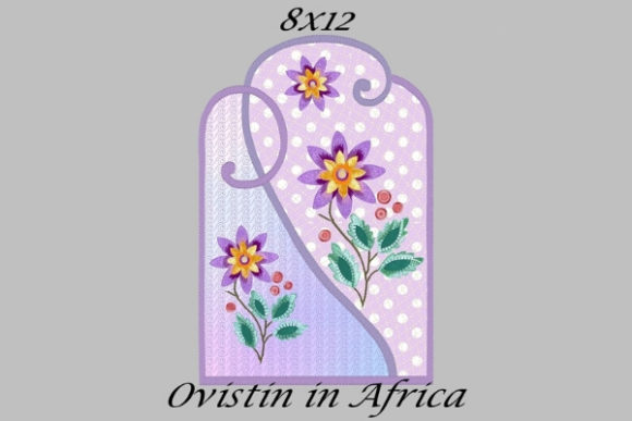 Beautiful Floral Applique Placemat Sewing & Crafts Embroidery Design By Ovistin in Africa