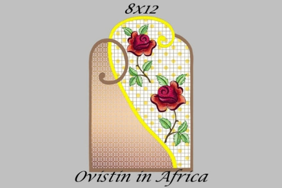 Beautiful Rose Floral Applique Placemat Sewing & Crafts Embroidery Design By Ovistin in Africa