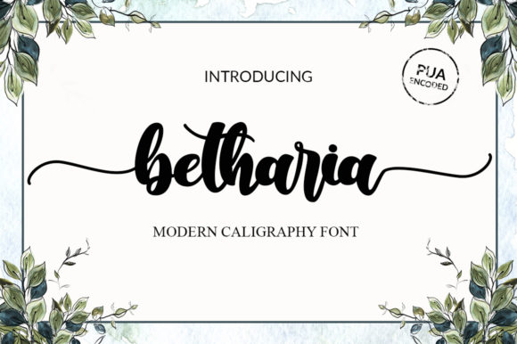 Print on Demand: Betharia Script & Handwritten Font By markonahcreative