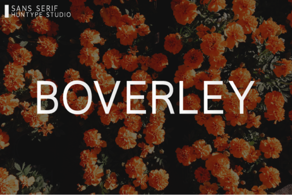 Print on Demand: Boverley Sans Serif Font By Huntype