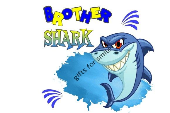 Download Free Brother Baby Shark Sublimation Template Graphic By Aarcee0027 Creative Fabrica for Cricut Explore, Silhouette and other cutting machines.