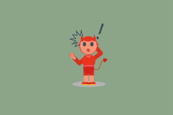 Download Free Character Little Boy With Devil Costume Graphic By Altumfatih for Cricut Explore, Silhouette and other cutting machines.