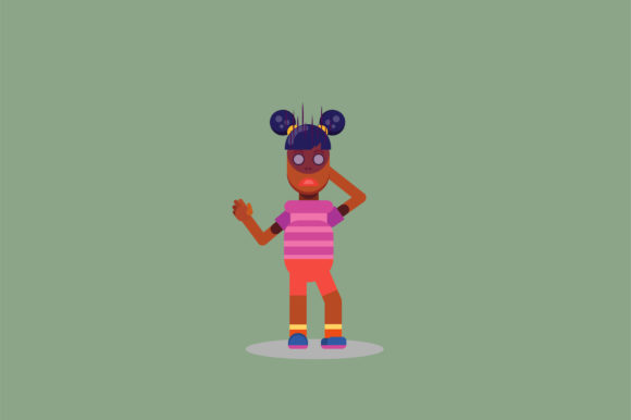 Print on Demand: Character of a Confused Little Girl Graphic Illustrations By altumfatih