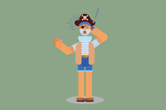 Download Free Character Pirate Shocked Expression Graphic By Altumfatih for Cricut Explore, Silhouette and other cutting machines.
