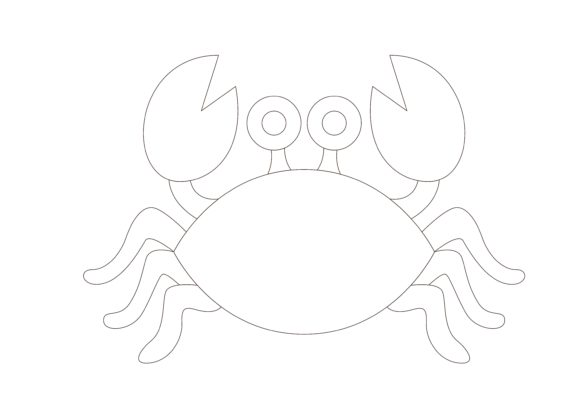 Download Free Children Coloring Crab Graphic By Studioisamu Creative Fabrica for Cricut Explore, Silhouette and other cutting machines.