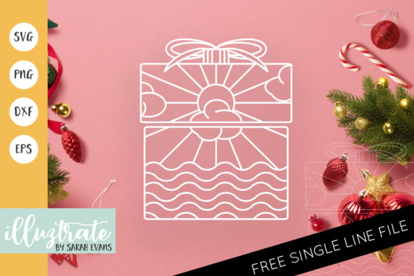Print on Demand: Christmas Present Mandala Cut File Graphic Crafts By illuztrate