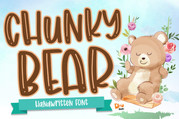 Print on Demand: Chunky Bear Script & Handwritten Font By dmletter31