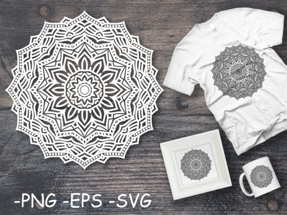 Download Free Circular Pattern Mandala Art 126 Graphic By Azrielmch for Cricut Explore, Silhouette and other cutting machines.