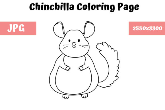 Print on Demand: Coloring Page for Kids - Chinchilla Graphic Coloring Pages & Books Kids By MyBeautifulFiles