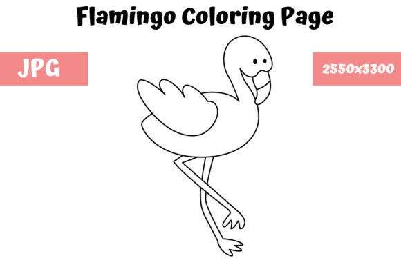 Print on Demand: Coloring Page for Kids - Flamingo Graphic Coloring Pages & Books Kids By MyBeautifulFiles