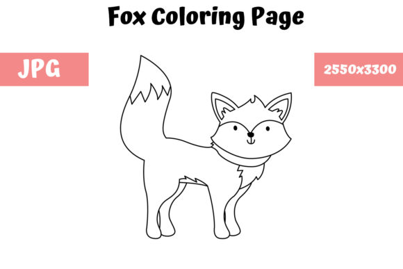 Print on Demand: Coloring Page for Kids - Fox Graphic Coloring Pages & Books Kids By MyBeautifulFiles