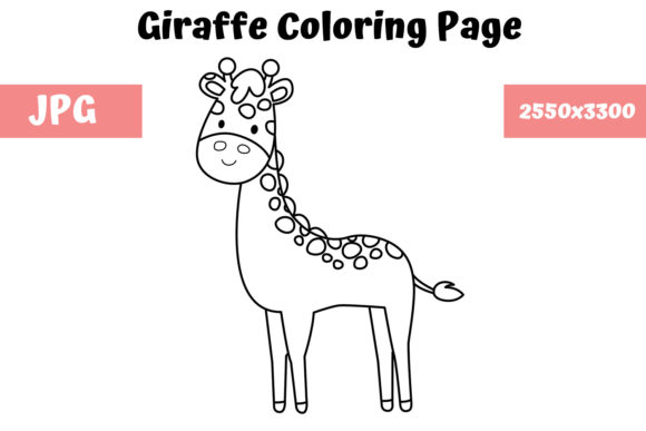 Print on Demand: Coloring Page for Kids - Giraffe Graphic Coloring Pages & Books Kids By MyBeautifulFiles