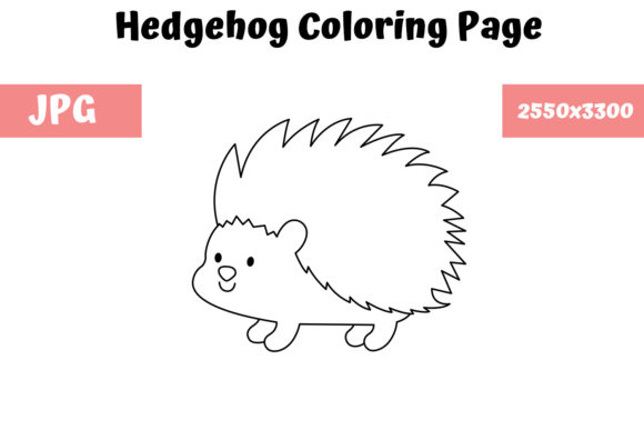 Print on Demand: Coloring Page for Kids - Hedgehog Graphic Coloring Pages & Books Kids By MyBeautifulFiles