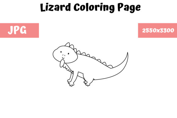 Print on Demand: Coloring Page for Kids - Lizard Graphic Coloring Pages & Books Kids By MyBeautifulFiles