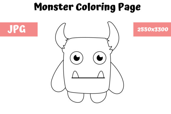 Print on Demand: Coloring Page for Kids - Monster 04 Graphic Coloring Pages & Books Kids By MyBeautifulFiles