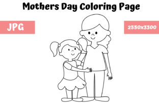 Print on Demand: Coloring Page for Kids - Mothers Day Graphic Coloring Pages & Books Kids By MyBeautifulFiles