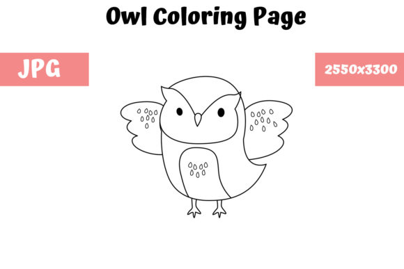 Print on Demand: Coloring Page for Kids - Owl Graphic Coloring Pages & Books Kids By MyBeautifulFiles
