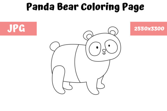 Print on Demand: Coloring Page for Kids - Panda Bear Graphic Coloring Pages & Books Kids By MyBeautifulFiles