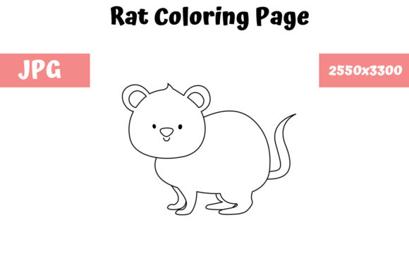Print on Demand: Coloring Page for Kids - Rat Graphic Coloring Pages & Books Kids By MyBeautifulFiles