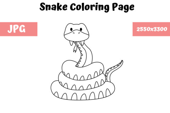 Print on Demand: Coloring Page for Kids - Snake Graphic Coloring Pages & Books Kids By MyBeautifulFiles